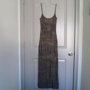 PLEIN SUD SUN taupe maxi dress sz 38/6